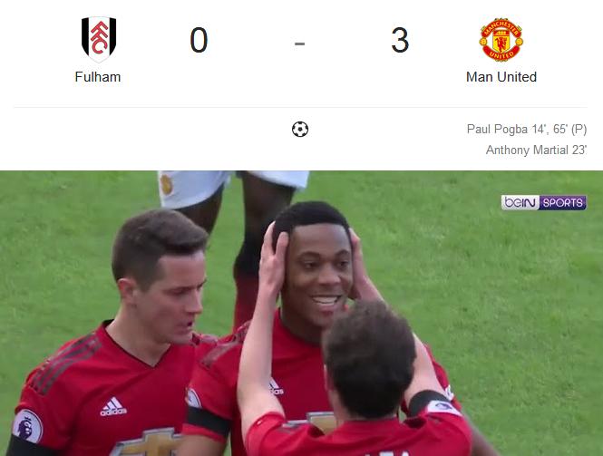 Manchester United Telak Kalahkan Fulham 3-0