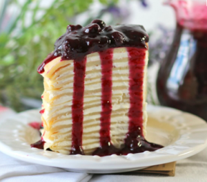 Crepes Cake Blueberrys